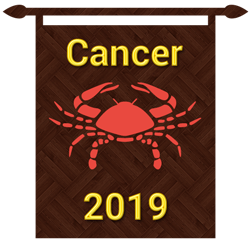 Symbol of cancer zodiac sign