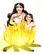 Legend of Holika Dahan is associated with the Holi festival