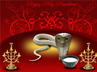 People worship snake god on Nag Panchami