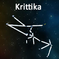The symbol of Krittika Nakshatra