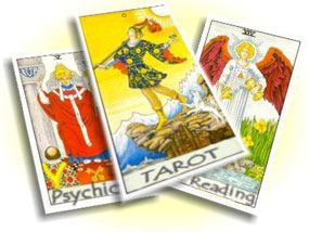 A spreaded deck of Tarot cards