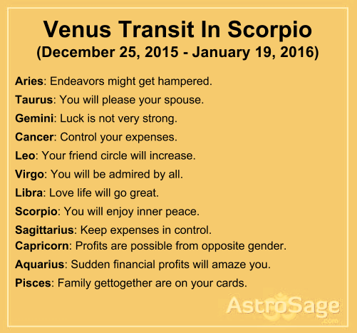 Dating venus in scorpio